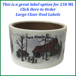 large clear oval labels text-750