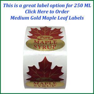 medium gold maple leaf labels text-750