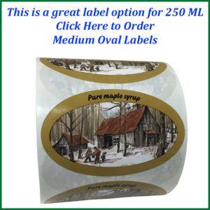 medium oval labels text-750