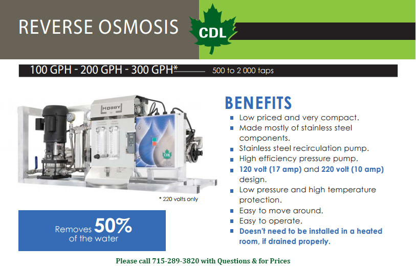 osmosis maple syrup machine