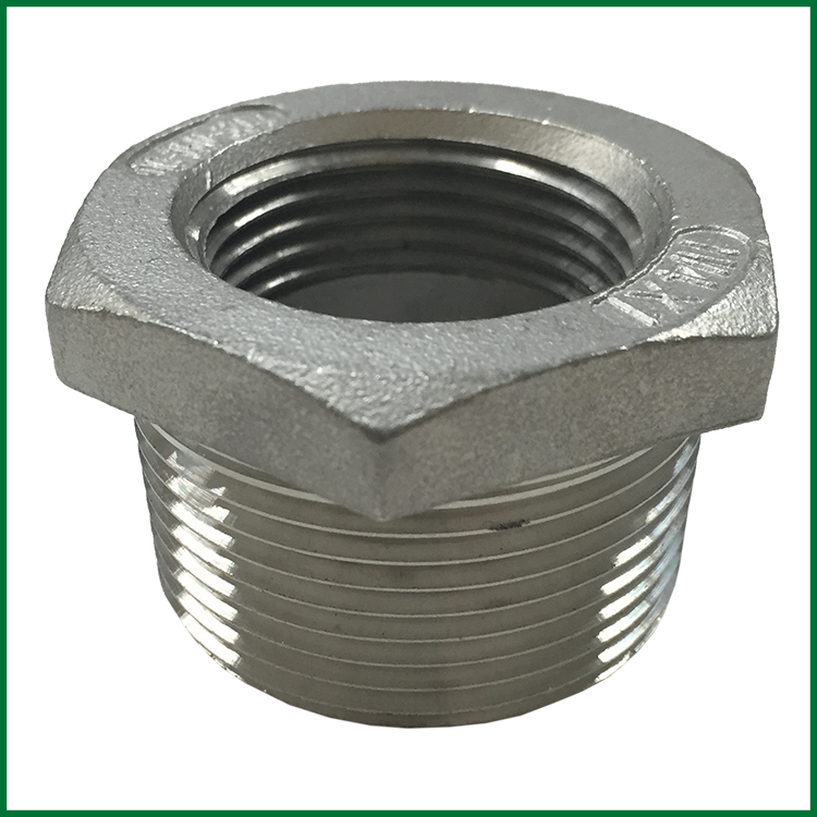 Stainless steel reducing bushings mipt fipt roth