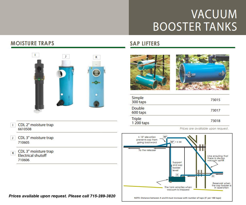 moisture trap-sap lifter info