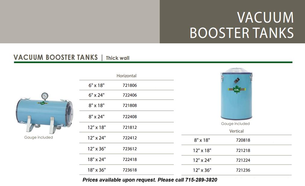 vacuum booster tank-info