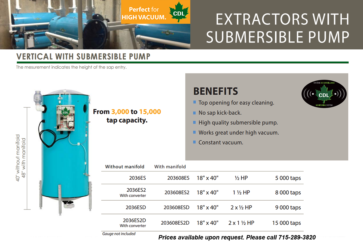 vertical with submersible pump-info