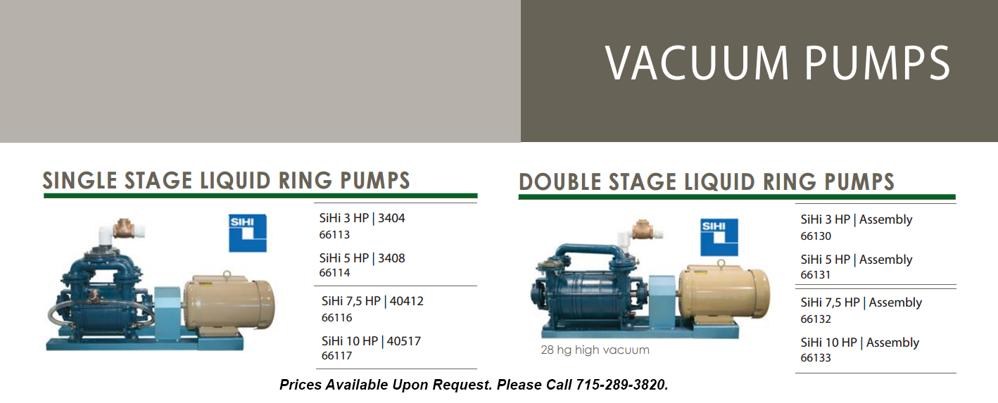 liquid ring pumps