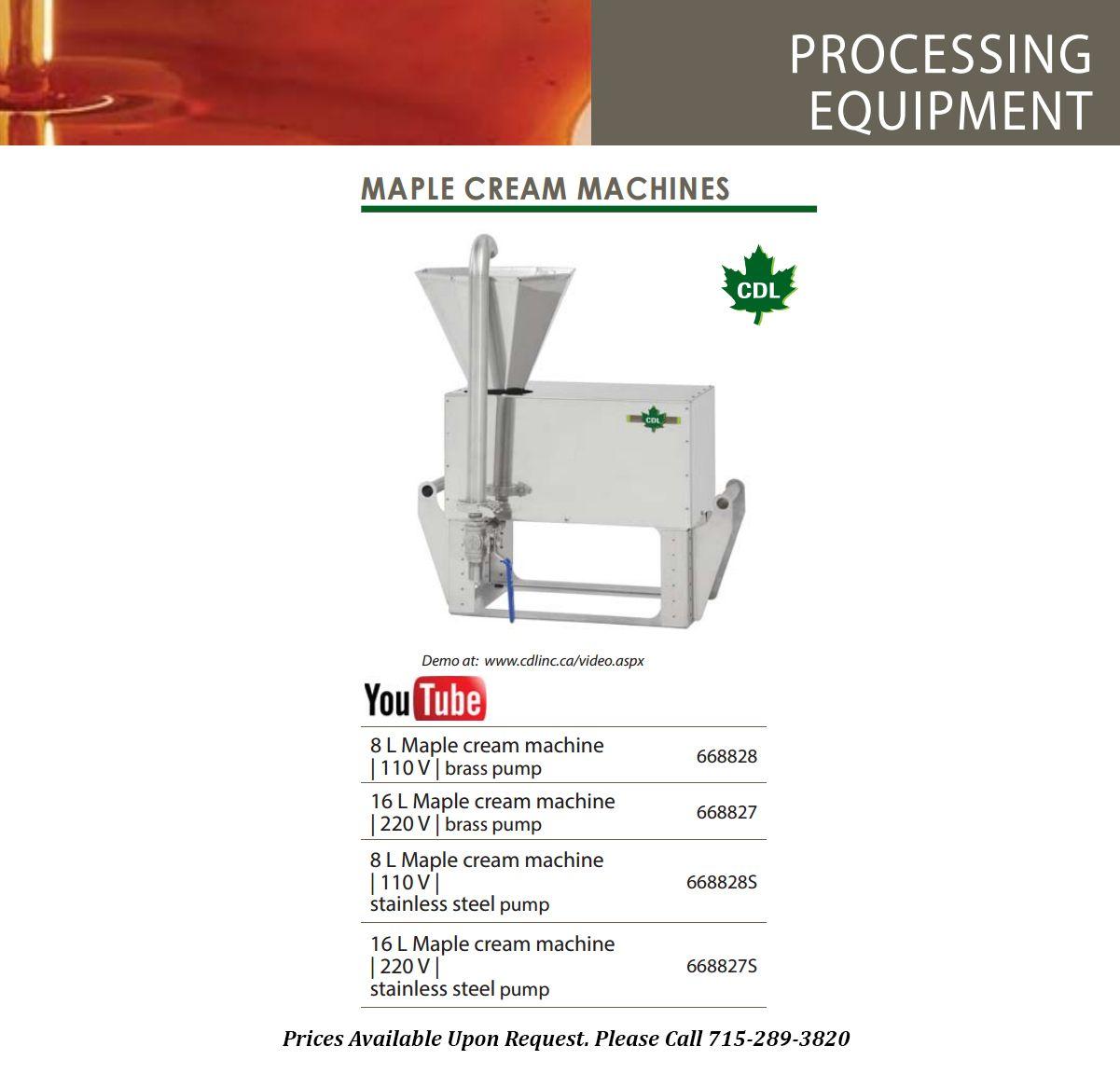 maple cream machines