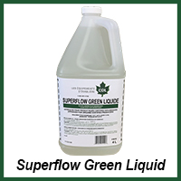 superflow green liquid organic