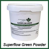 superflow green powder organic