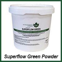 superflow green powder organic