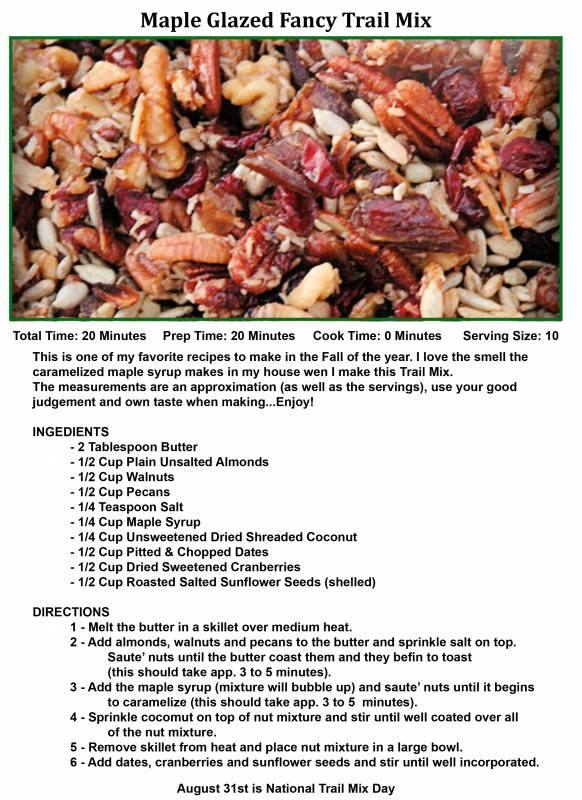 8-31 maple glazed fancy trail mix
