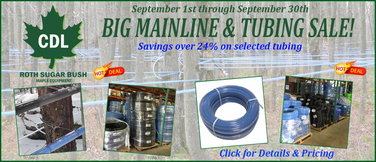 2016 SEPTEMBER mainline and tubing sale 9-1