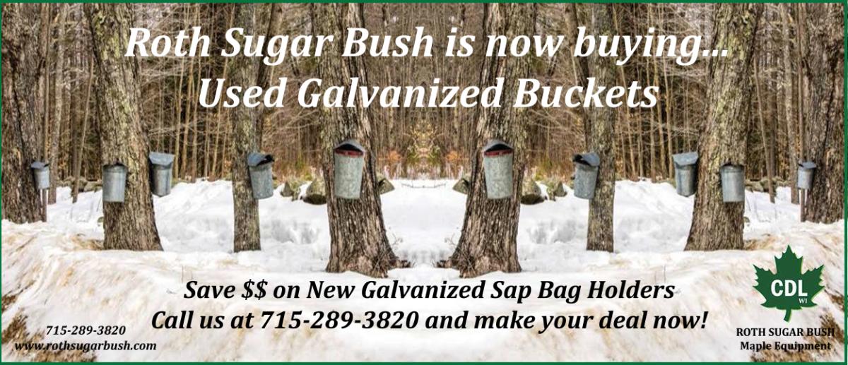 used galvanized buckets NEW slider
