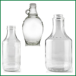 Glass Decanter & Flat