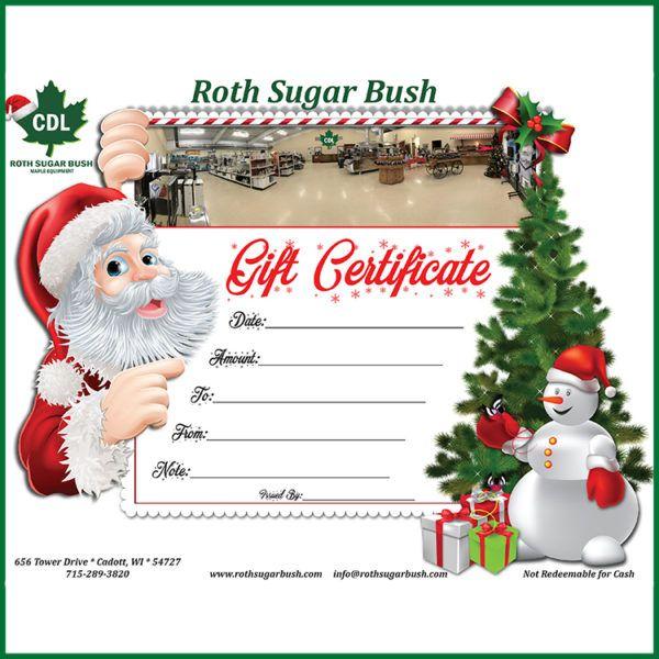15e0094a293 Roth Sugar Bush Gift Certificate – Roth Sugar Bush