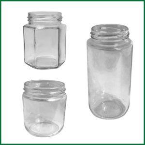 Glass - Hex & Round Jars